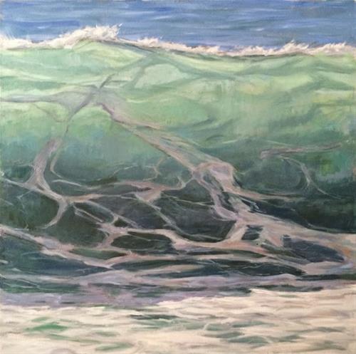 """""""Green Crest"""" original fine art by Deborah Newman"""