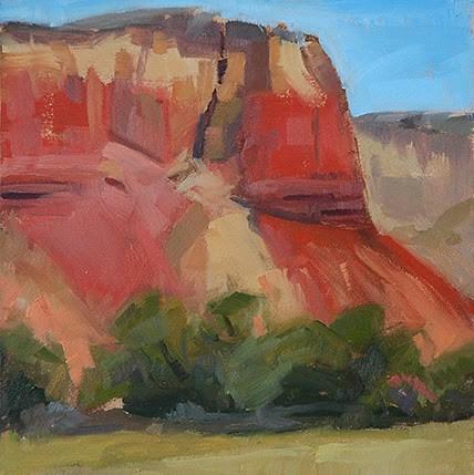 """Ghost Ranch No. 2"" original fine art by Miriam Hill"