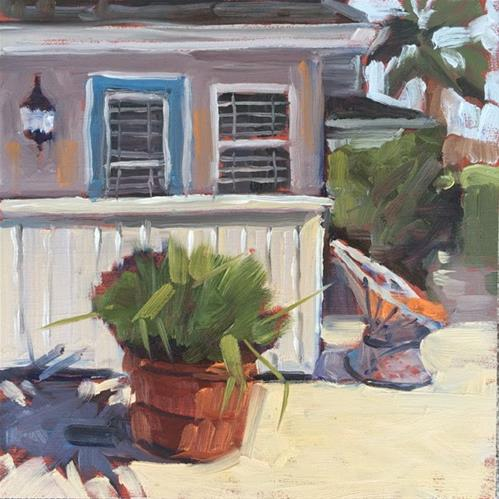 """""""La Jolla Cottage"""" original fine art by Deborah Newman"""