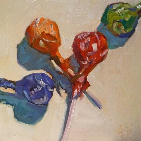 """Tootsie Pops"" original fine art by Mary Sheehan Winn"