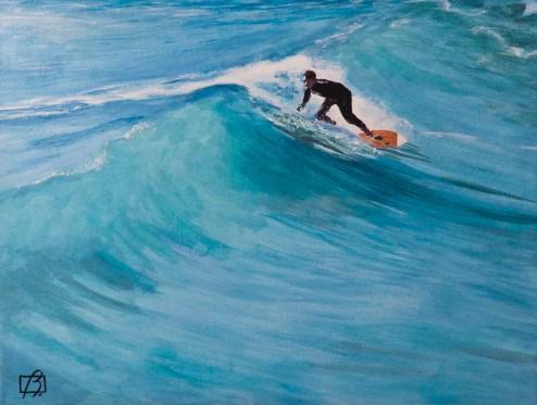 """""""Surfer"""" original fine art by Andre Beaulieu"""