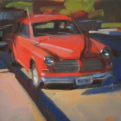 """Red Zinger"" original fine art by Carol Marine"