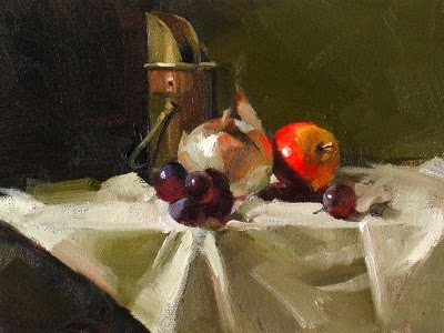 """""""Onion at Center --- Sold"""" original fine art by Qiang Huang"""