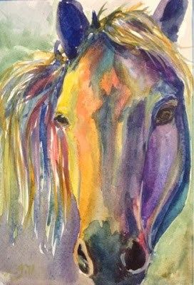 """""""Day 6 - Another Paint Pony"""" original fine art by Lyn Gill"""