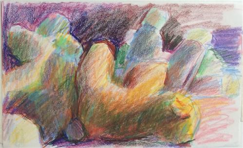 """Stuffed Animals in Disarray"" original fine art by Sharon Savitz"