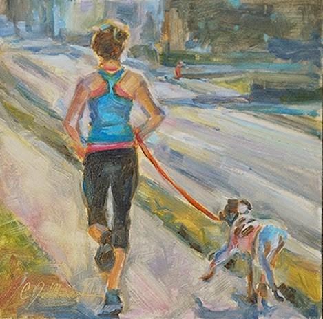"""Day 6 - Moving on Down the Row"" original fine art by Carol DeMumbrum"