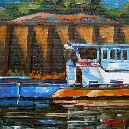 """Neckar"" original fine art by Jurij Frey"