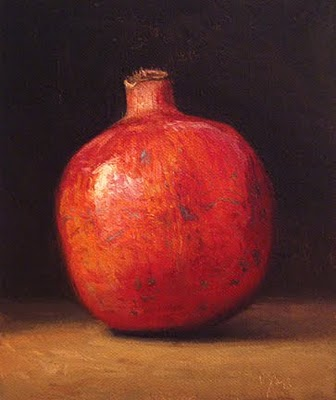 """Pomegranate No. 4"" original fine art by Abbey Ryan"