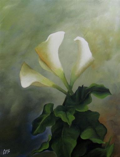 """""""Calla Lily Trio"""" original fine art by ~ces~ Christine E. S. Code"""