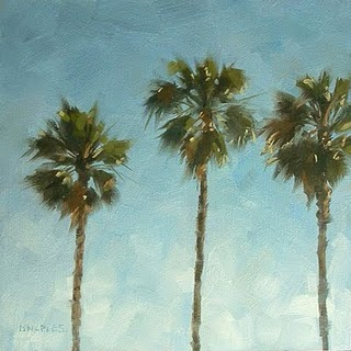 """Three Palms"" original fine art by Michael Naples"