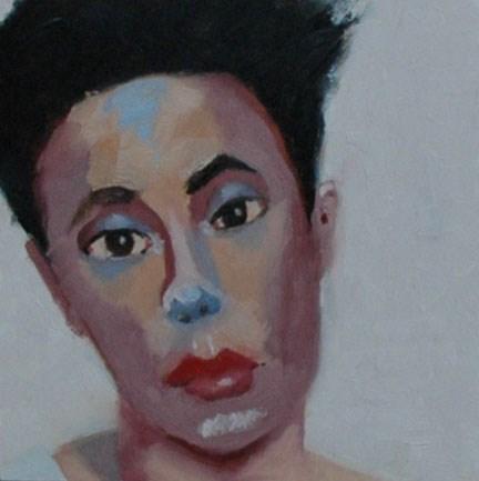 """""""FACE No. 117"""" original fine art by Linda Popple"""