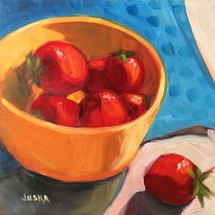 """Bowl of Berries"" original fine art by Elaine Juska Joseph"