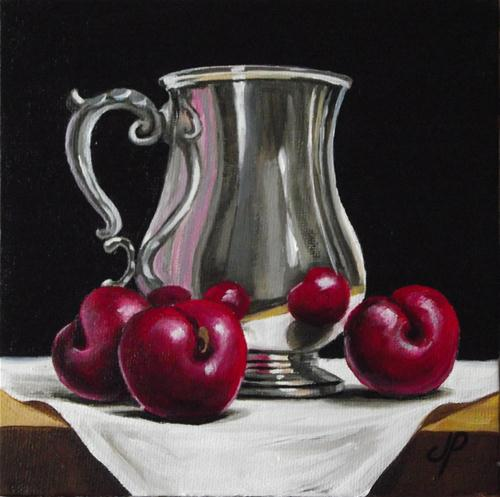 """""""Silver with Plums"""" original fine art by Jane Palmer"""