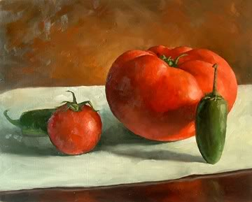 """Vegetable Family"" original fine art by Michael Naples"