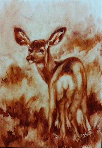 """All Ears-value study"" original fine art by Veronica Brown"