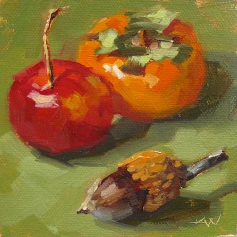 """""""Fall Trio"""" original fine art by Karen Werner"""