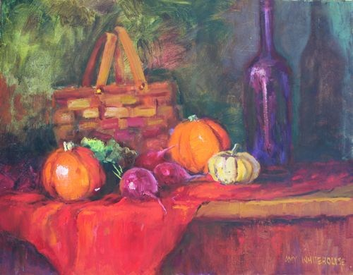 """""""Autumn Thoughts Still Life Paintings by Arizona Artist Amy Whitehouse"""" original fine art by Amy Whitehouse"""