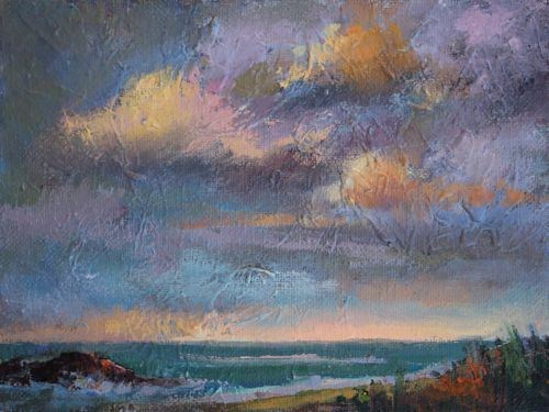 """Calming the Storm Seascape Paintings by Arizona Artist Amy Whitehouse"" original fine art by Amy Whitehouse"