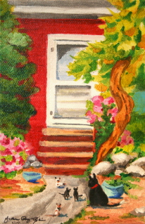 """Mama Cat"" original fine art by JoAnne Perez Robinson"