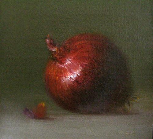 """Red Onion"" original fine art by MeeLi Lee"