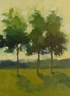 """Three Trees"" original fine art by Pamela Munger"