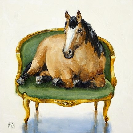 """go mustangs!"" original fine art by Kimberly Applegate"