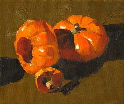 """Halloween Is Coming"" original fine art by Qiang Huang"