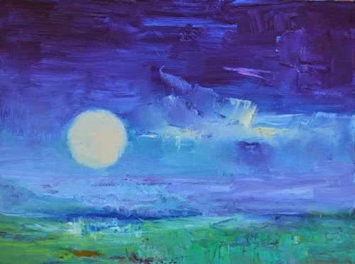 """""""My Night Sky, Abstract Seascape Paintings by Arizona Artist Amy Whitehouse"""" original fine art by Amy Whitehouse"""