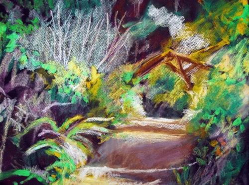 """Hiking Point Reyes"" original fine art by Donna Crosby"