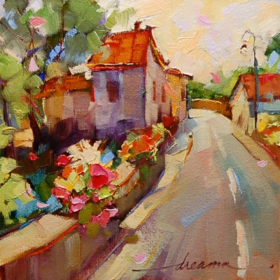 """All Roads Lead Home"" original fine art by Dreama Tolle Perry"