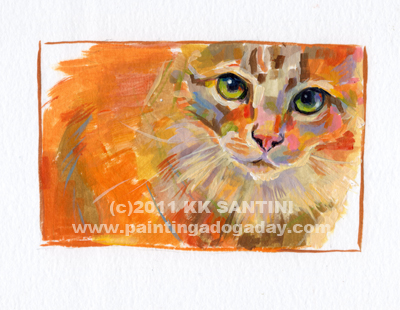 """Enzo, A Painted Sketch"" original fine art by Kimberly Santini"