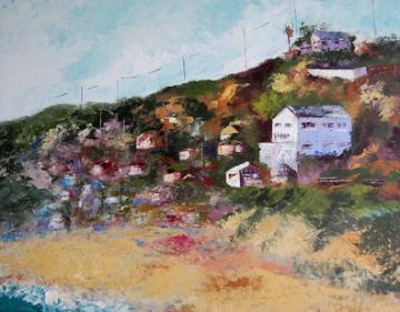 """Reflections on Crystal Cove"" original fine art by Deborah Harold"