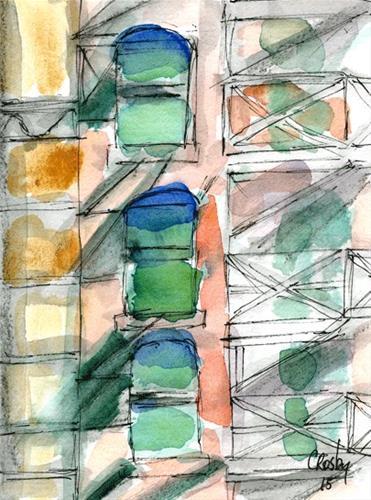 """Alley Shadows"" original fine art by Donna Crosby"
