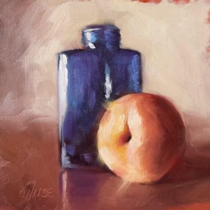 """""""Blue Bottle"""" original fine art by Cindy Haase"""