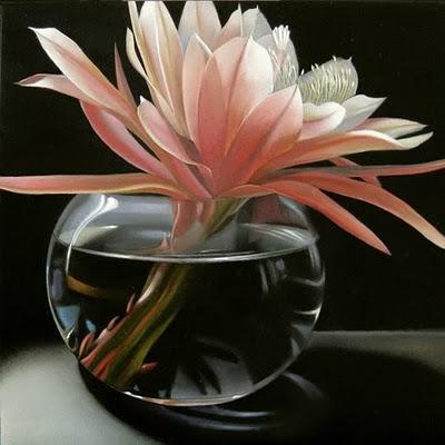 """Epiphyllum 6x6"" original fine art by M Collier"