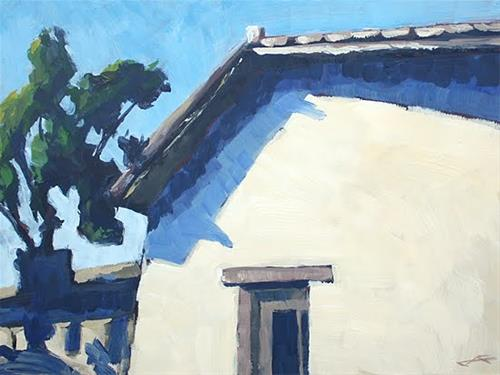 """Mission Blue"" original fine art by J. Farnsworth"