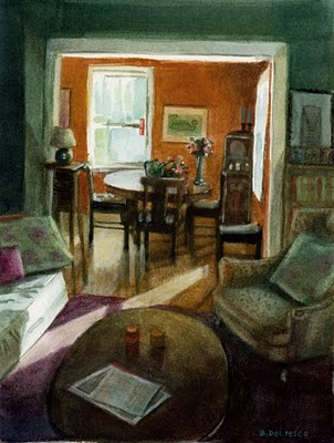 """Watercolor: Study for Den"" original fine art by Belinda Del Pesco"