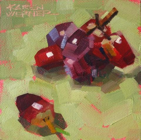 """""""Rectangle Grapes"""" original fine art by Karen Werner"""