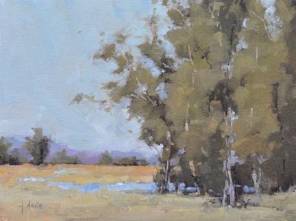"""Creekside"" original fine art by Julie Davis"