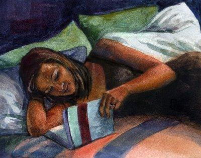"""Watercolor: One More Chapter"" original fine art by Belinda Del Pesco"