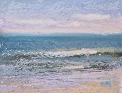 """Why Going to the Beach is Good for Your Pastels"" original fine art by Karen Margulis"
