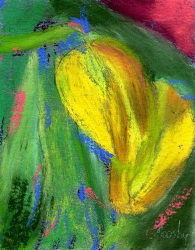 """Tulip Intimacy"" original fine art by Donna Crosby"