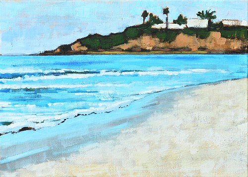 """""""Afternoon at Monarch Beach"""" original fine art by Kevin Inman"""