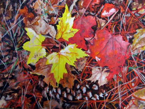 """Last of Autumn"" original fine art by Nan Johnson"