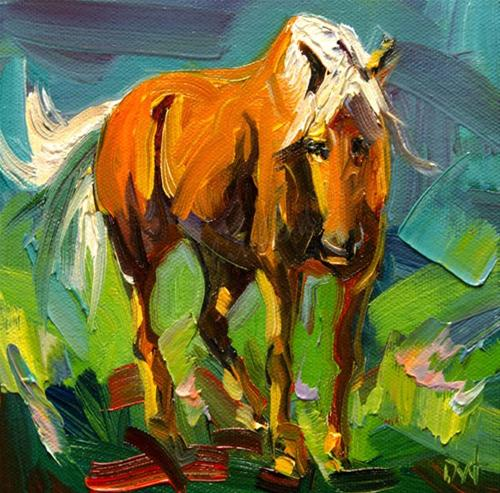 """DIANE WHITEHEAD HORSE EQUINE ART OIL PAINTING ORIGINAL"" original fine art by Diane Whitehead"