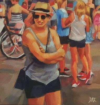 """Summer Festival"" original fine art by Deborah Ann Kirkeeide"