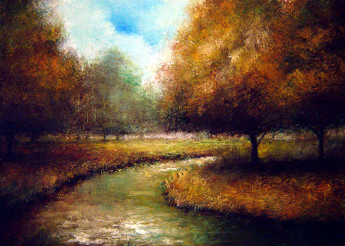 """Fall Stream"" original fine art by Bob Kimball"