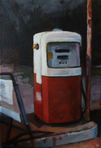 """OLD GAS PUMP"" original fine art by Kathryn Kittell"