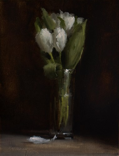 """Tulips"" original fine art by Neil Carroll"