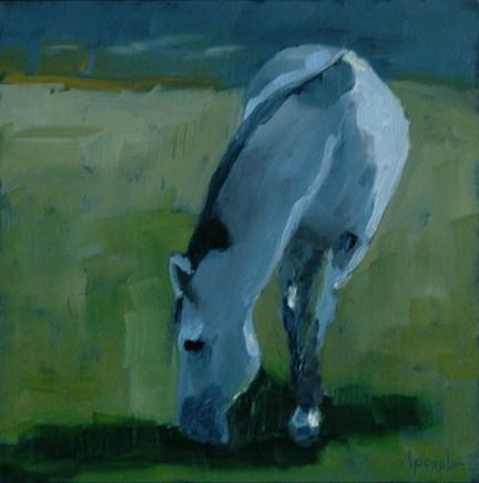 """HORSE ONE"" original fine art by Linda Popple"